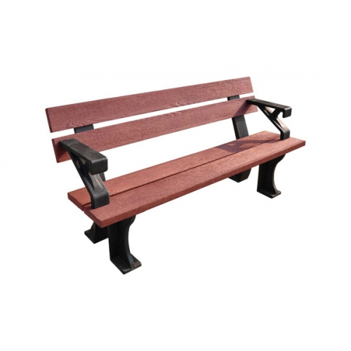 Photo of Red 150cm bench with arms