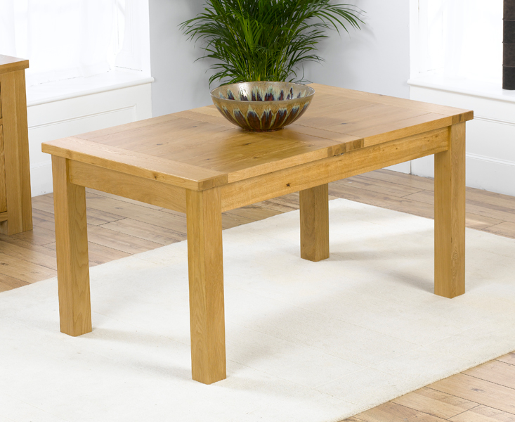 Rustique 120cm Solid Oak Extending Dining Table + 6 Rustique Slatted Chairs