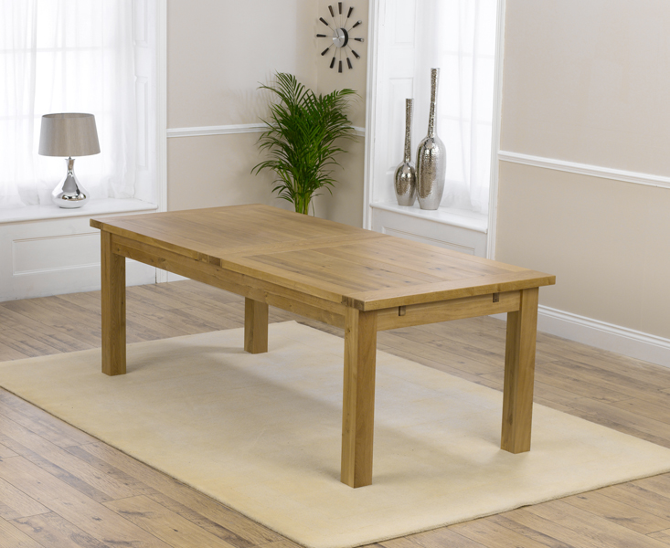 Rustique 220cm Ext. Dining Table with 12 Rustique Chairs Set