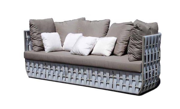 Skyline Strips Rattan Sofa