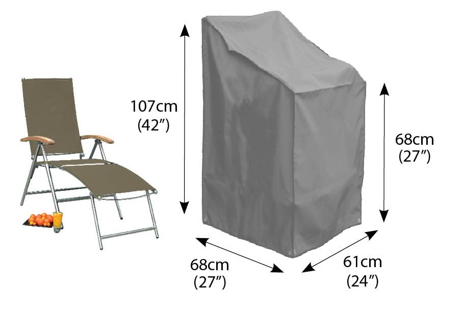 Photo of Bosmere stacking or reclining chair cover grey