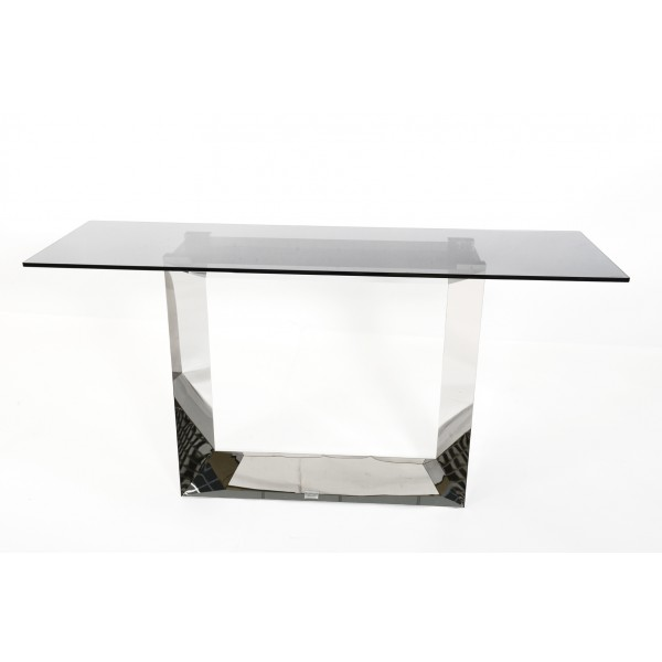 Fairmont Donatella Glass and Stainless Steel Console Table