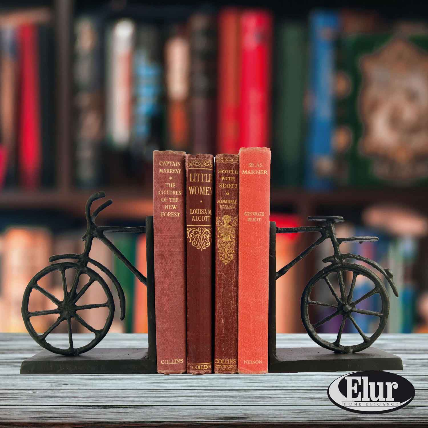 'Europa 13cm Summer Bicycle Book Ends Cast Iron Figurine