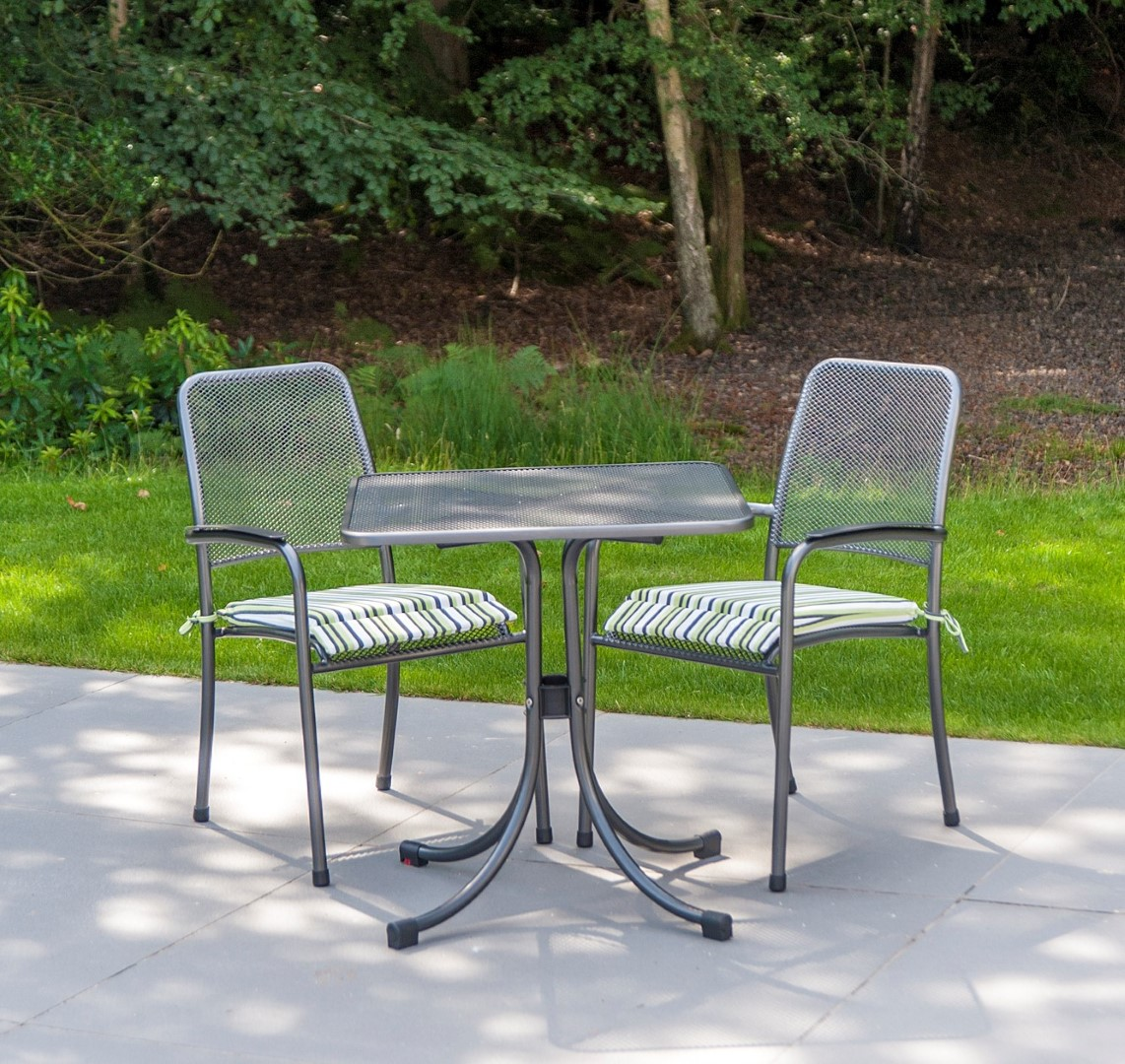 Alexander Rose Portofino Square Stacking Bistro Set With Cushions