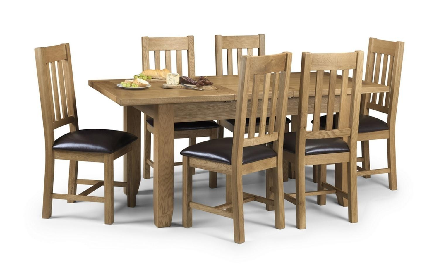 Julian Bowen Astoria Oak Extending Dining Table And 4 Chairs