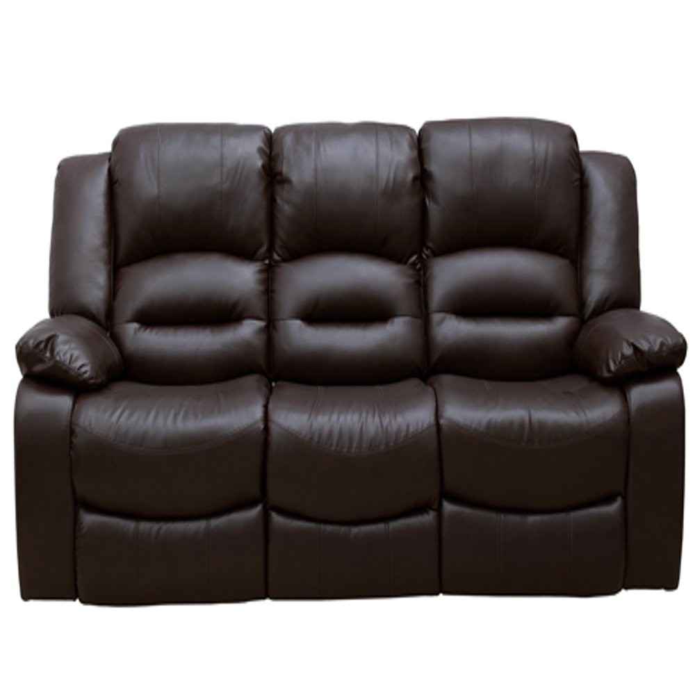 Click to view product details and reviews for Barletto 3 Seater Fixed Brown Leather Sofa.