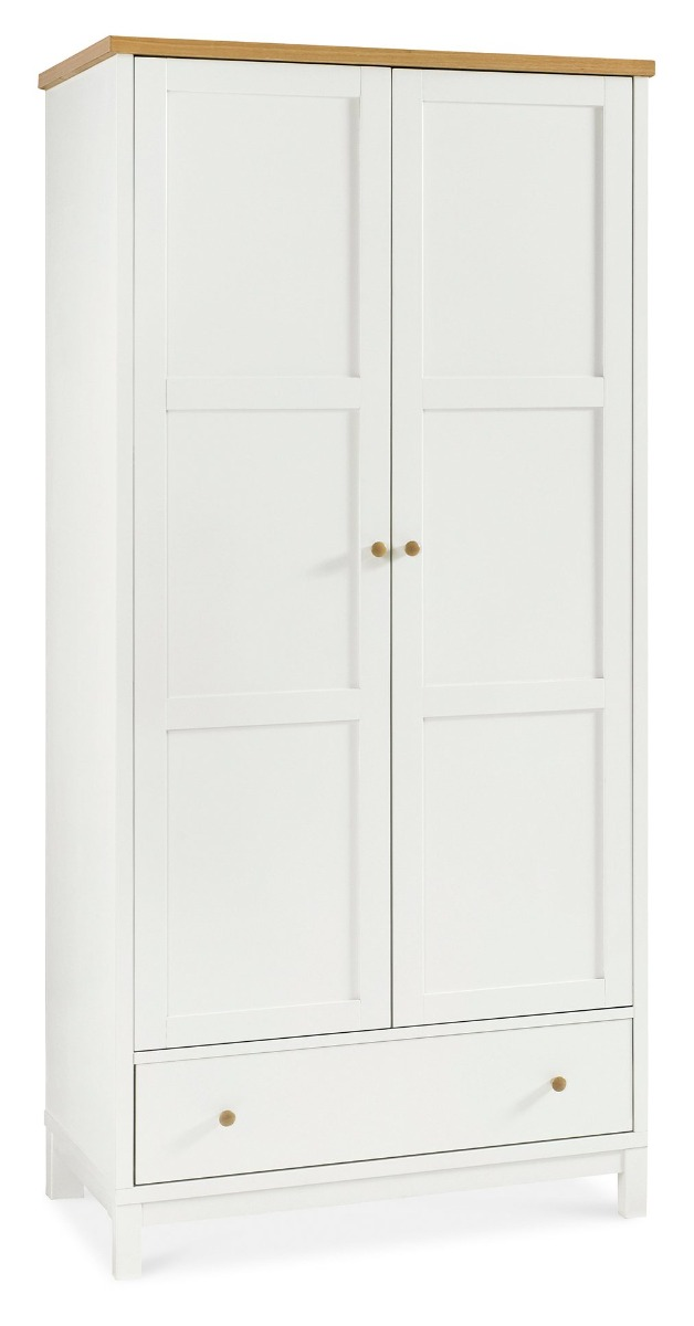 Bentley Designs Atlanta Two Tone Double Wardrobe With Drawer
