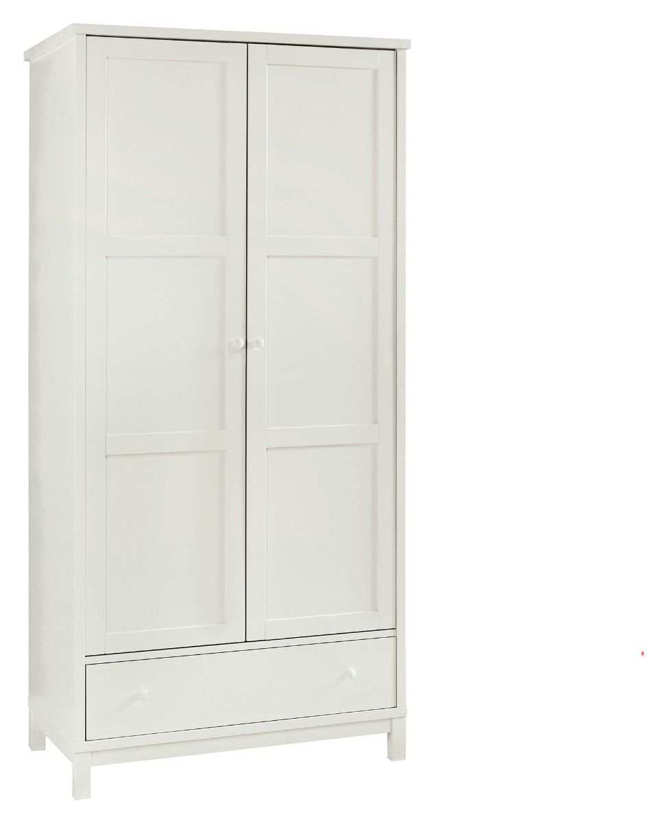 Bentley Designs Atlanta White Double Wardrobe With Drawer