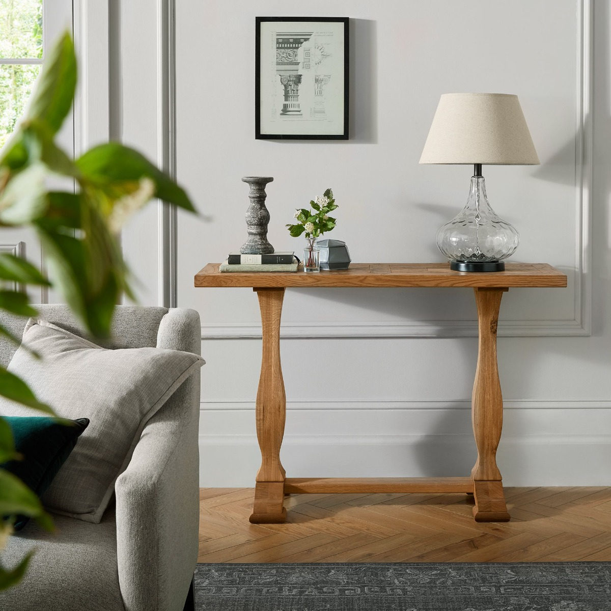Semicircle Marble Console Tables, Living Room Corridor Side Table Villa Decoration Console Tables For Hallway Size:80 * 35 * 75CM(Size:80 * 35 * 75CM)