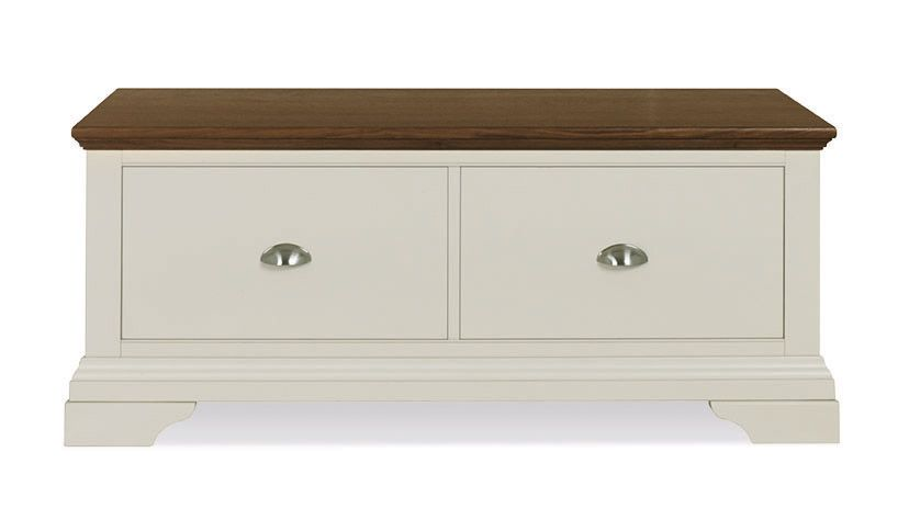 Photo of Bentley designs hampstead soft grey & walnut blanket box