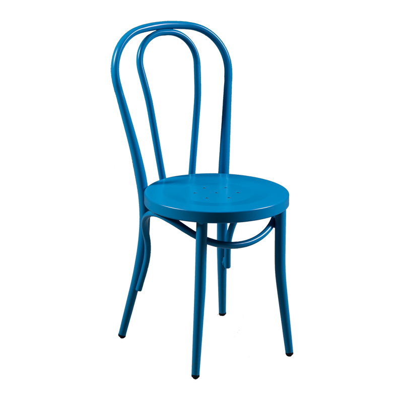 Bentwood Style Mint Blue Metal Dining Chair