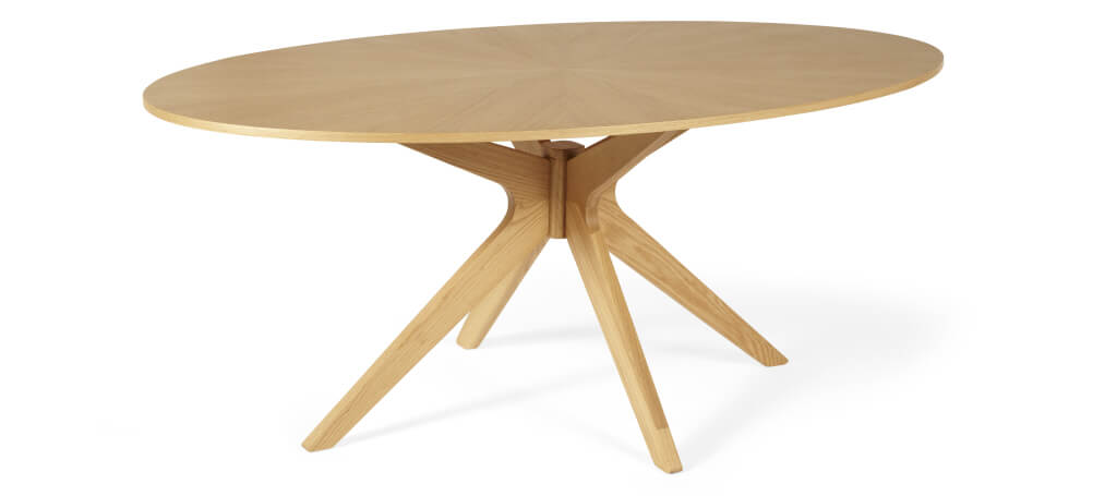 Serene Bexley Oval Oak Dining Table