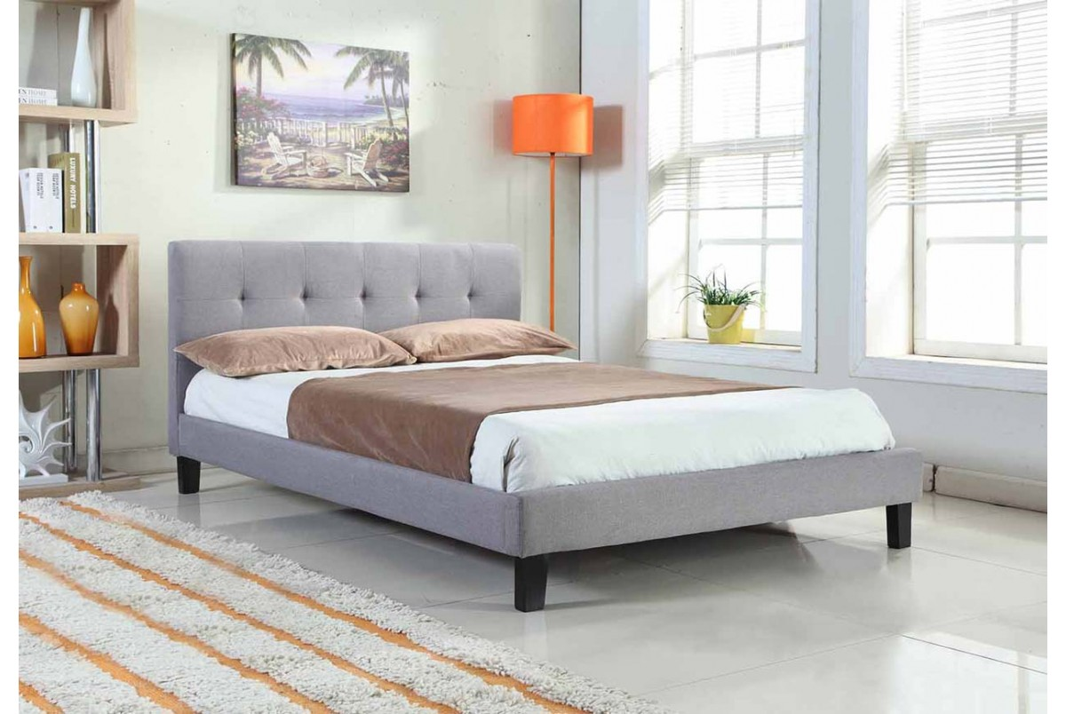 Brighton 4ft6 Double Grey Fabric Bed