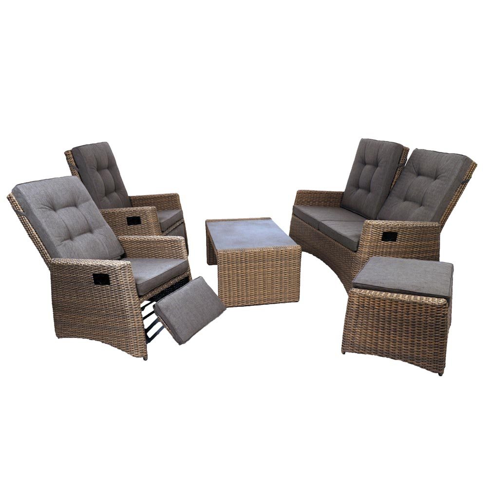 Europa Milborne Brown Rattan Sofa Set