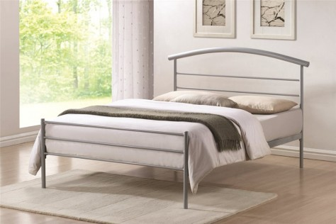 Brennington 4ft6 Double Silver Metal Bed
