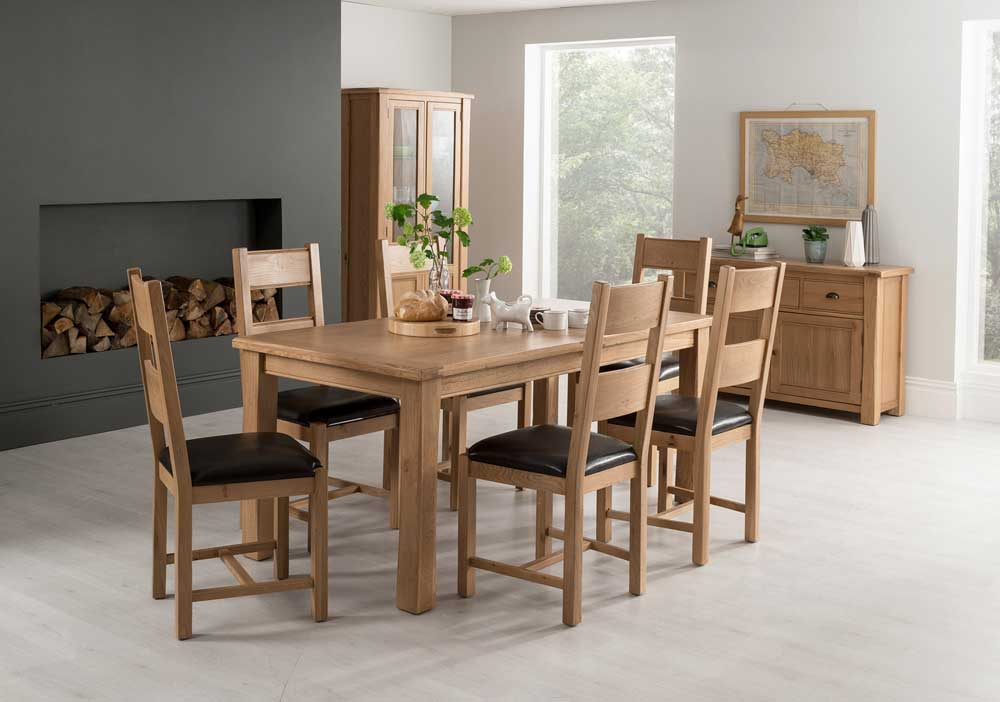 Breeze 180cm Extending Dining Table + 6 Breeze Chairs