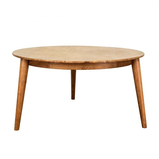 Brondby 150cm Oak Round Dining Table