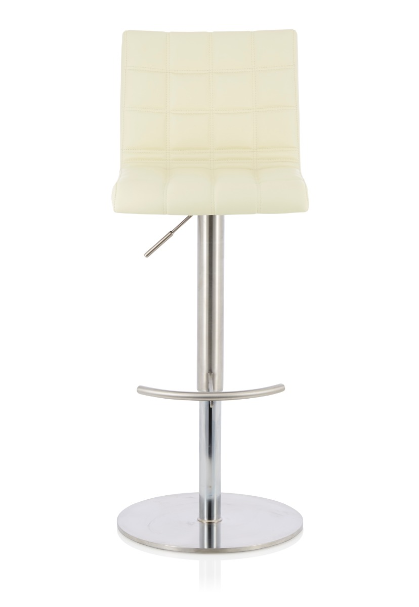 Bryony Cream Faux Leather Height Adjustable Swivel Bar Stool