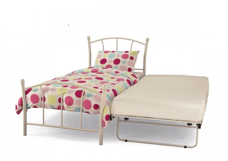 Photo of Serene penny 3ft single white gloss metal guest bed