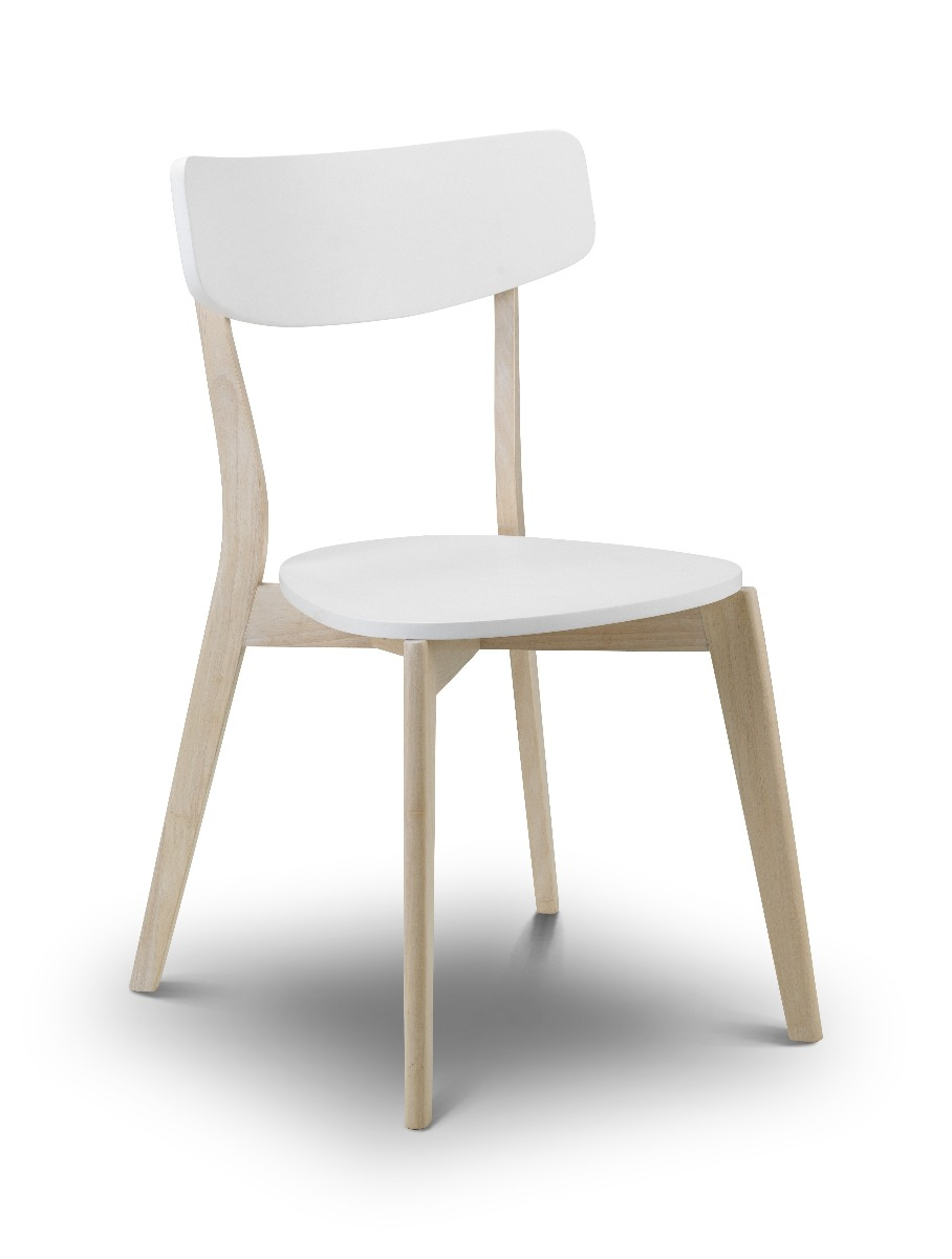 Photo of Julian bowen casa white and wood dining chair