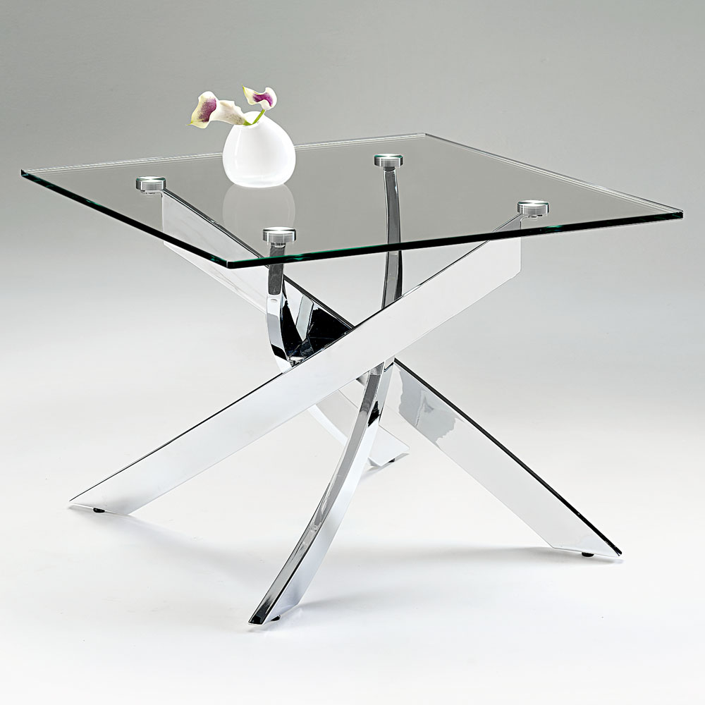 Chelsom Cluster Square Glass Lamp Table
