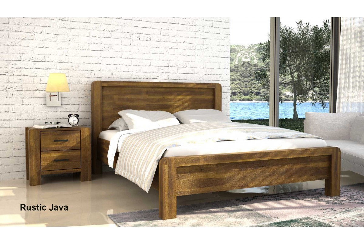 Chichester 4ft6 Double Rustic Acacia Wood Bed