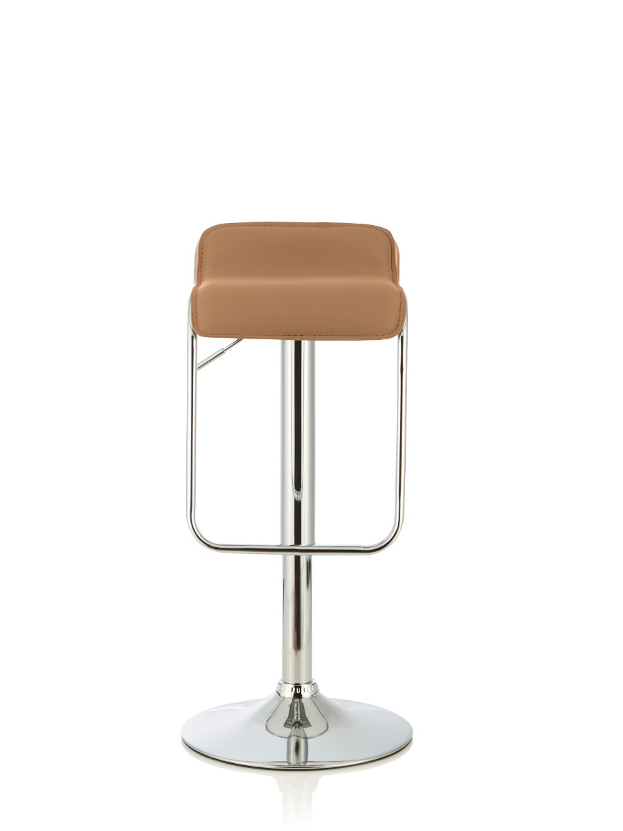 Clover Taupe Faux Leather Height Adjustable Swivel Bar Stool