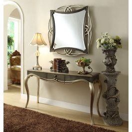 Adele Mirrored Console And Mirror Set