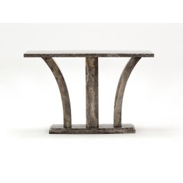 Amalfi Pearl Grey Marble Console Table
