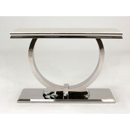 Arianna Cream Marble Low Console Table