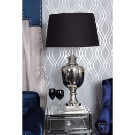 Parma Nickle Table Lamp With Black Shade