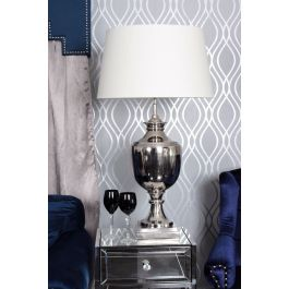 Parma Nickle Table Lamp With Cream Shade