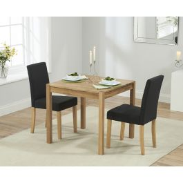 Promo 150 cm solid oak dining table 2 large benches for Furniture 77429