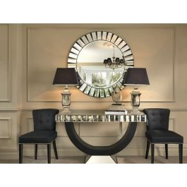 Diana Mirrored Console And Mirror Set