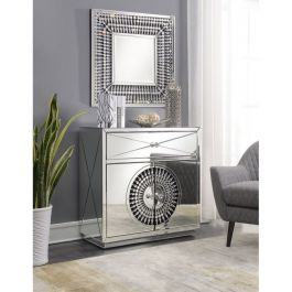 Crystal Mirrored 2/1 Chest & Square Mirror
