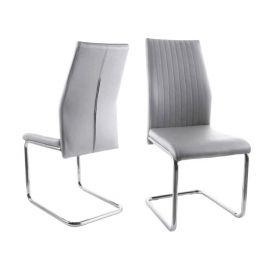 Fairmont Aldo Light Grey Leather Dining Chairs