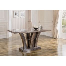 Amalfi 180cm Pearl Grey Marble Dining Table