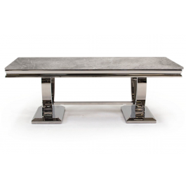 Arianna Grey Marble Coffee Table