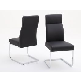 Fairmont Dante Leather Dining Chairs Pair