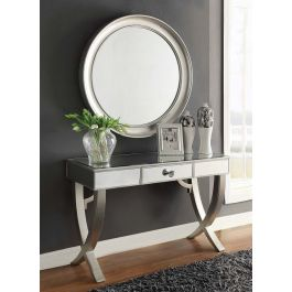 Mercury Mirrored Console And Mirror Set