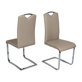 Fairmont Marco Leather Dining Chairs Taupe