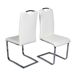 Fairmont Marco Leather Dining Chairs Cream