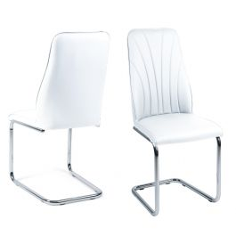Fairmont Malissa White Leather Dining Chairs