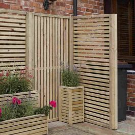 Rowlinson Garden Creations Vertical Slat Panel (Pack of four)