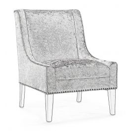 Fairmont Tessa Black Velvet Lounge Chair
