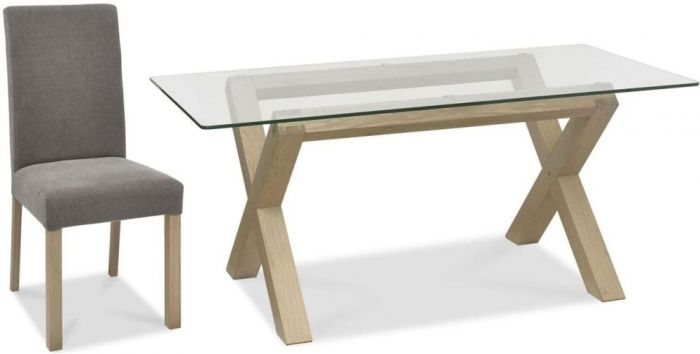 Dining Set Tuin : Bentley designs turin aged oak glass top dining table square
