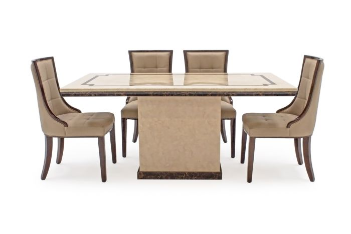 Awe Inspiring Alfredo 160Cm Beige Marble Dining Table Leather Chairs Download Free Architecture Designs Boapuretrmadebymaigaardcom