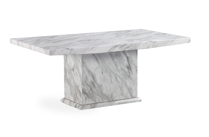 Caceres Grey Marble Effect Coffee Table