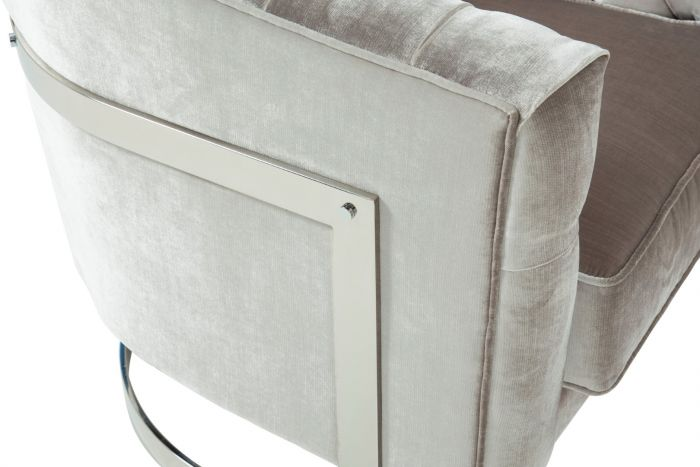 Leah Grey with Silver Accent Chair