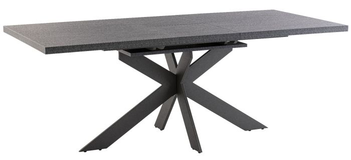 Picasso 160cm Dark Grey Marble Ext Dining Table First Furniture First Furniture
